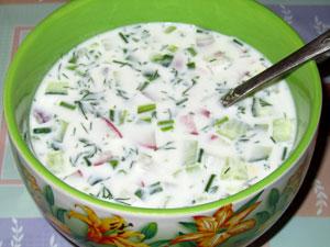 рецепты простых окрошка кефир куриной грудкой с фото
