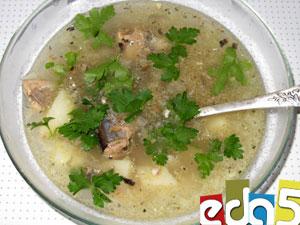 Сайровый суп с рисом